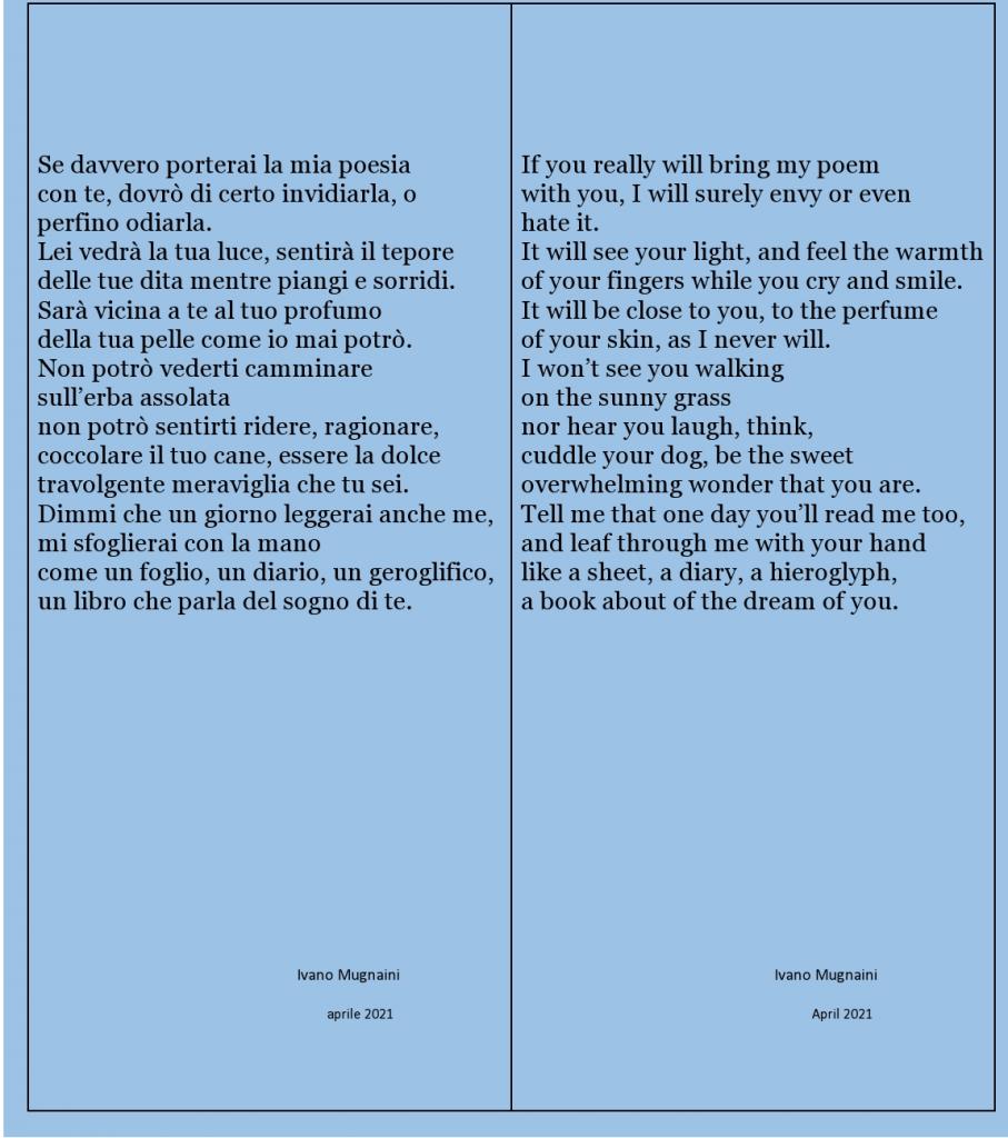 Se davvero porterai la mia poesia